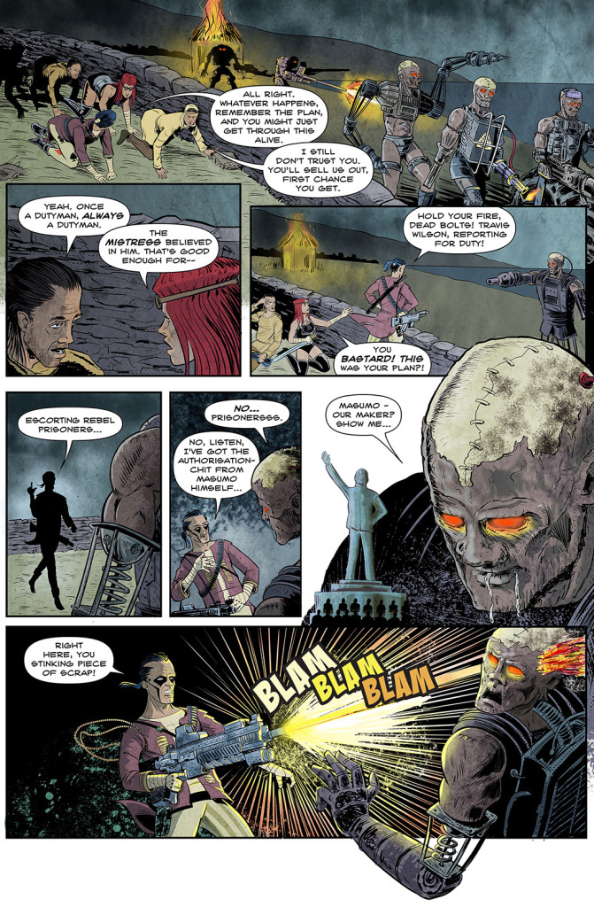 Death Duty page 3 (Art by Brett Burbridge)