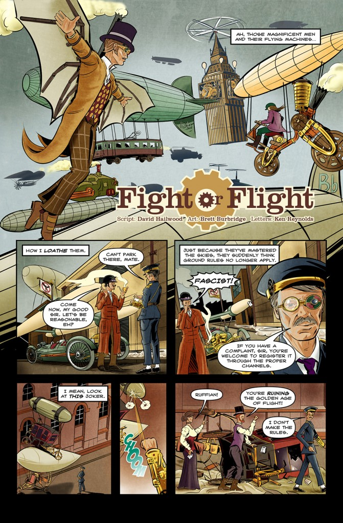Fight Or Flight.  Script: David Hailwood.  Art: Brett Burbridge.  Letters: Ken Reynolds