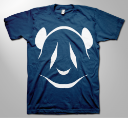 navy-blue-white-panda-tee